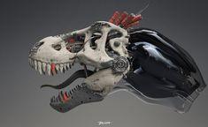 "ArtStation - Red Tooth - technoskull T-rex, Przemek ""jimmy"" Duda"