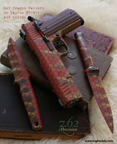 Red Dragon paint job on PT1911