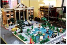 Artist Orion Pax created the Back to the Future Hill Valley 2015 play set out of LEGO