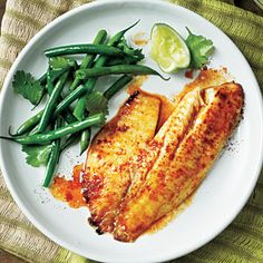 Sweet and Spicy Citrus Tilapia ~ This versatile marinade works well with several types of dishes, especially flaky, white fish like tilapia. Round out the meal with a cool side of green beans tossed with cilantro and lime.