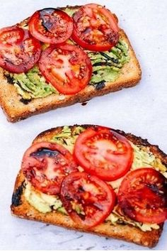 Tomato and Avocado Balsamic Toast -You can find Toast and more on our website.Tomato and Avocado Balsamic Toast - Gourmet Recipes, Vegetarian Recipes, Cooking Recipes, Healthy Recipes, Easy Recipes, Clean Eating Snacks, Healthy Snacks, Healthy Eating, Healthy Brunch