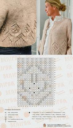 Knitting Charts, Sweater Knitting Patterns, Lace Knitting, Knitting Stitches, Knitting Designs, Knit Patterns, Stitch Patterns, Crochet Crafts, Knit Crochet