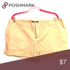 Women's Plus Short Shorts by Mossimo Women's Plus tan short shorts size 18. Great condition. No stains/wear. Mossimo Supply Co. Shorts