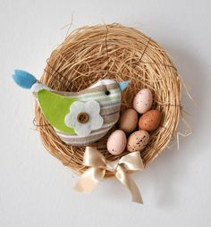 Húsvéti ajtódísz kezdőknek   Masni