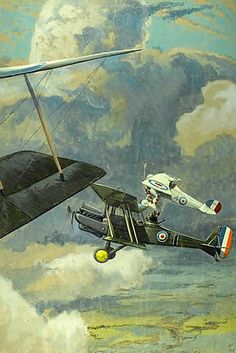 Lt Richard #Barrett Talbot Kelly: An RE8 with a French Nieuport 27 #fighter #escort, circa 1916 #war #painting #Britishart #modernart #llfa Large Picture Frames, Canvas Prints, Art Prints, A0 Poster, First World, 500 Piece Jigsaw Puzzles, Art Reproductions, Poster Size Prints, Modern Art