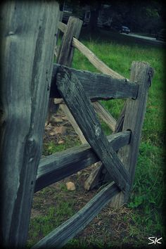 Fences, the backbone of a farm. Country Fences, Rustic Fence, Farm Fence, Fence Gate, Country Farm, Fencing, Country Life, Diy Gate, Old Gates