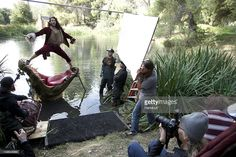In this handout image provided by Disney Parks, BEHIND THE SCENES WITH RUSSELL BRAND AS CAPTAIN HOOK - Actor Russell Brand poses for acclaimed photographer Annie Leibovitz as Captain Hook from Disney's 'Peter Pan' November 3, 2011 near Newhall, California. The new 'Disney Dream Portrait,' commissioned by Disney Parks for their ongoing celebrity advertising campaign which debuted in 2007, is one of two new images unveiled August 1, 2012 by Disney Parks. The Leibovitz image, which will appear…