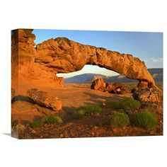 Global Gallery Sunset Arch Escalante National Monument Utah Canvas Wall Art - GCS-396219-1216-142
