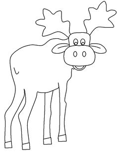 Print Coloring Page And Book Moose2 Animals Pages For Kids Of All Ages