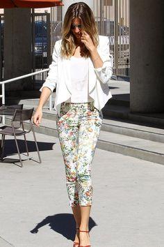 Pantalón de flores: Gisele Bundchen