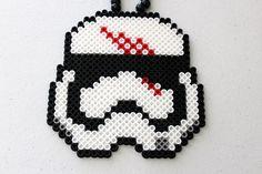 Star Wars Finn FN2187 Stormtrooper Pony Perler Bead Necklace by seeuinwonderland