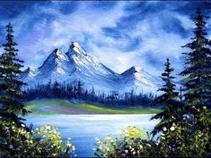 Mountain Lake Solitude (4x6) / Small & Simple Oil Painting Exercise - YouTube
