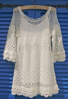 """See more Chicwish Hand Knit Crochet Dress """"Hand Knit Delicacy of Crochet Dress - Party - Dress - Retro, Indie and Unique Fashion"""", """"Hand Knit Delicacy o Mode Crochet, Knit Crochet, Crochet Tops, Graph Crochet, Hand Crochet, Unique Fashion, Pullover Outfit, Pullover Pullover, Knit Cardigan"""