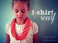 t-shirt scarf - A girl and a glue gun