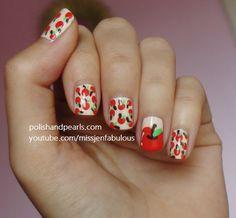 Apple Nails! - Polish and Pearls