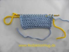 Knooking - purl two ways (IN GERMAN - If you are familiar with knooking, you can watch this video to learn this stitch... The video is very good... Deb)