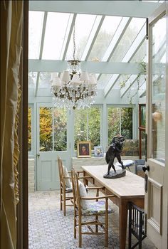 If one looks up the interpretation of a new conservatory, it certainly will inform you that it must be a greenhouse. Outdoor Rooms, Outdoor Living, Casa Patio, Glass Room, Ideas Hogar, Roof Architecture, Glass House, Home Fashion, Cabana