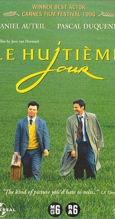 Directed by Jaco Van Dormael.  With Daniel Auteuil, Pascal Duquenne, Miou-Miou, Henri Garcin. An unusual and wonderful friendship develops between a busy but unhappy salesman and a resident of a mental asylum.