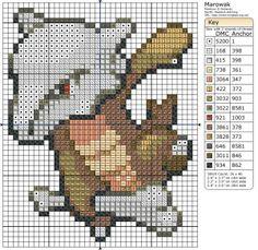 Birdie Stitching Pokemon Pattern - 105 Marowak