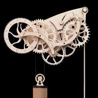 Wooden Mechanical Clock Kit – steampunk inspired DIY clock for the time enthusiast Wooden Clock Kits, Wall Clock Kits, Diy Clock, Wood Clocks, Antique Clocks, Skeleton Wall Clock, Wooden Gears, Pendulum Clock, Woodworking Tools