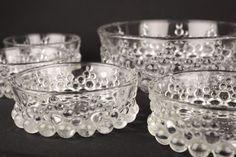 Vintage Walther Glass Bubbles Bowl Schale