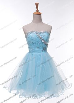 Short prom dress  blue prom dress / short cocktail by verydress, $99.00