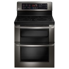 LG Black Stainless Steel Series  6.7 CU. FT. CAPACITY ELECTRIC DOUBLE OVEN RANGE WITH EASYCLEAN® #LGLimitlessDesign & #Contest