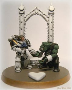 Orks, Space Marines, Wedding - If Jenny and Richard were getting married as their virtual personnas...:P