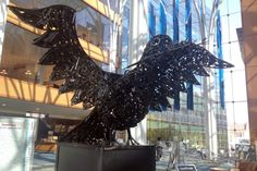 Indianapolis firefighter Ryan Feeney was commissioned by the Marion County Sheriff to make a sculpture out of confiscated weapons the sheriff's department is legally required to dispose of. The result is a 750-pound dove, incorporating over 1,200 pieces of disassembled guns. #bulletsintobeauty