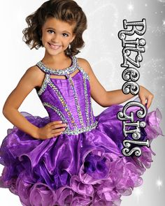 Girls Pageant Dress Ritzee Girls Style b632