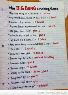 The Big Bang Theory Drinking Game