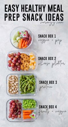 Looking for some Easy Healthy Meal Prep Snack Ideas? Here are 4 meal prep snack . Yoshie Ibrahim Some Healthy Food Looking for some Easy Healthy Meal Prep Snack Ideas? Here are 4 meal prep snack recipes for work, school, or home! Easy Healthy Meal Prep, Healthy Prepared Meals, Easy Healthy Recipes, Simple Healthy Snacks, Healthy Breakfast Meal Prep, Eating Healthy, Healthy Snacka, Snacks Recipes, Healthy Lunchbox Ideas