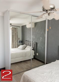 NOVA - Mirrored wardrobe sliding doors