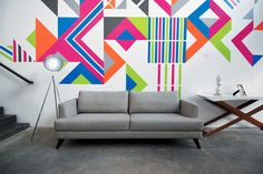 Indoor Mural Zig Zag contemporary furniture - Duda Lanna