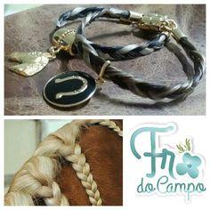 Das crinas do cavalo, pulseiras com muito amor.