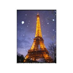 christmas in paris 2005 // paris snow towers eiffel cities tower architecture france europe landmarks weather christmas found on Polyvore