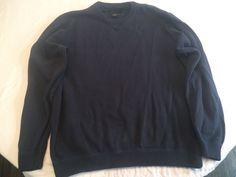 Eddie Bauer Mens Crewneck Knit Pullover Sweater 100% Cotton Dark Blue Size Large  | eBay