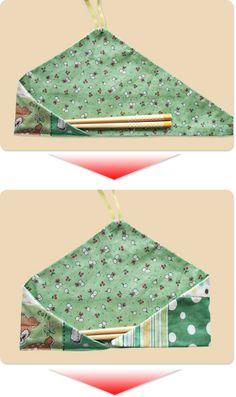 How to make a chopstick holder / handmade accessories, hats, bags, aprons-Ku-no dressmaking box-Dressmaking class in Sapporo