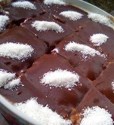 Καρύδα σοκολάτα ..υπέροχο γλυκό !!! ~ ΜΑΓΕΙΡΙΚΗ ΚΑΙ ΣΥΝΤΑΓΕΣ 2 Pudding, Sweets, Bread, Health, Desserts, Food, Cakes, Kitchens, Tailgate Desserts