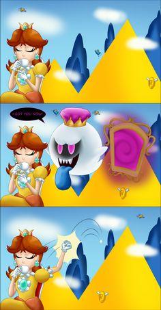 Why Daisy wasn't in the Luigi's Mansion trilogy by TheBadGrinch on DeviantArt Mario Run, Mario Bros., Mario Party, Super Mario Bros, Super Mario Brothers, Metroid, Princesa Daisy, Mario Comics, The Shadow Queen
