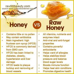 Raw honey is characterised by fine textured crystals, it looks cloudier and contains particles and flecks made of bee pollen, honeycomb bits and even broken bee wing fragments. Raw and unfiltered honey will usually granulate and crystallize to a thick consistency after a few months.