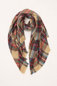 9e7b58bbee8 Look By M Plaid Blanket Scarf Dimensions- 37