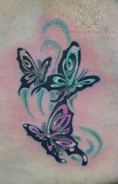 Flying Butterflies Tattoos