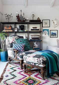 Love the chair and ottoman - maybe put next to the couch. desire to inspire - desiretoinspire.net