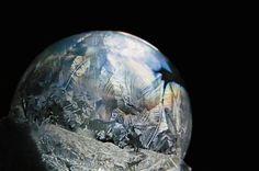 Frozen ice bubbles --- blow bubbles at 10-15 degrees, no wind.