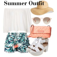 Summer Outfit by snowflake1025 on Polyvore featuring polyvore fashion style Topshop Scoop Marc by Marc Jacobs GlassesUSA David & Young