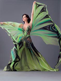 Blanka Matragi and her amazing dresses