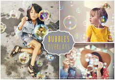 45 Bubble Photo Overlays JPG by ElyseBear on @creativemarket