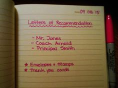 Chasing College: Choosing who to write your letters of recommendation