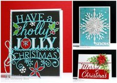 Two Christmas card classes Saturday...by the Memory Box Design Team
